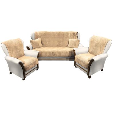 4home Narzuty Na Kanapę I Fotele Baranek Beżowy 150 X 200 Cm 2 Szt 65 X 150 Cm