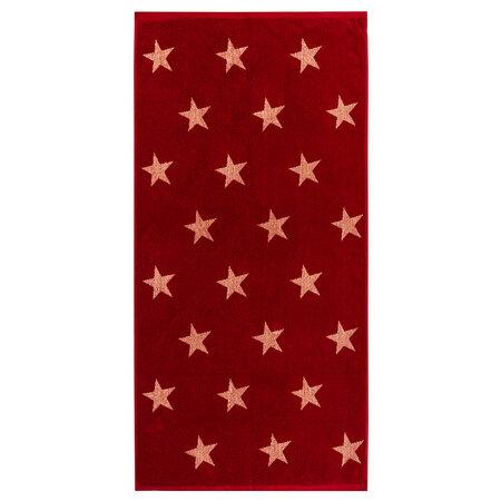 Osuška Stars červená, 70 x 140 cm