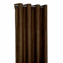Zatemňovací záves Suedine tmavohnedá, 140 x 240 cm, sada 2 ks