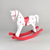 Dřevěná dekorace Houpací kůň 26,5 x 23 cm, červená