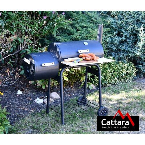 Cattara Grill na węgiel drzewny z wędzarnią Smokie , 100 x 55 x 113 cm