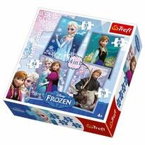 Trefl Puzzle Ľadové kráľovstvo, 4 ks