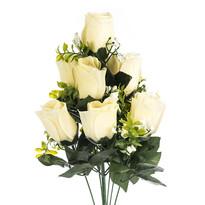 Sztuczna wiązanka Róże kremowy, 48 cm