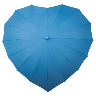 Dámský holový deštník srdce Heart sv.modrá