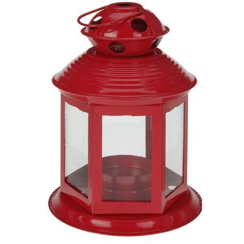 Koopman Lucerna na čajovou svíčku Linterne, červená