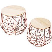 Dalux oldalsó asztal készlet, rézszínű