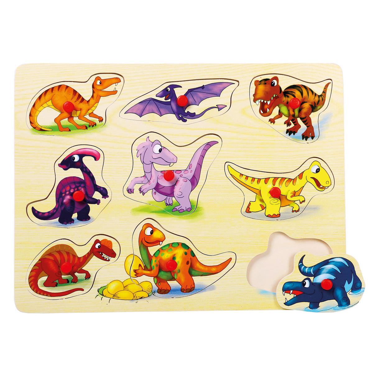 Bino Puzzle na desce, Dinosauři