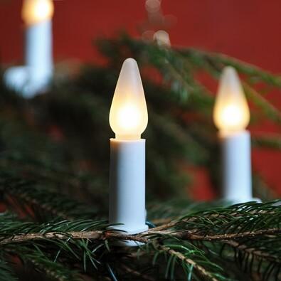Světelný řetěz Lunaria bílá, 34 žárovek