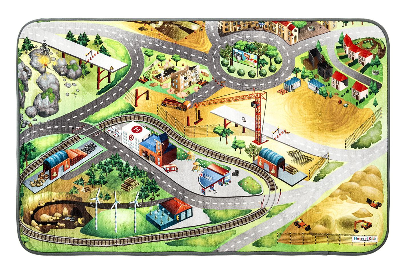 Vopi Dětský koberec Ultra Soft Stavba, 95 x 145 cm