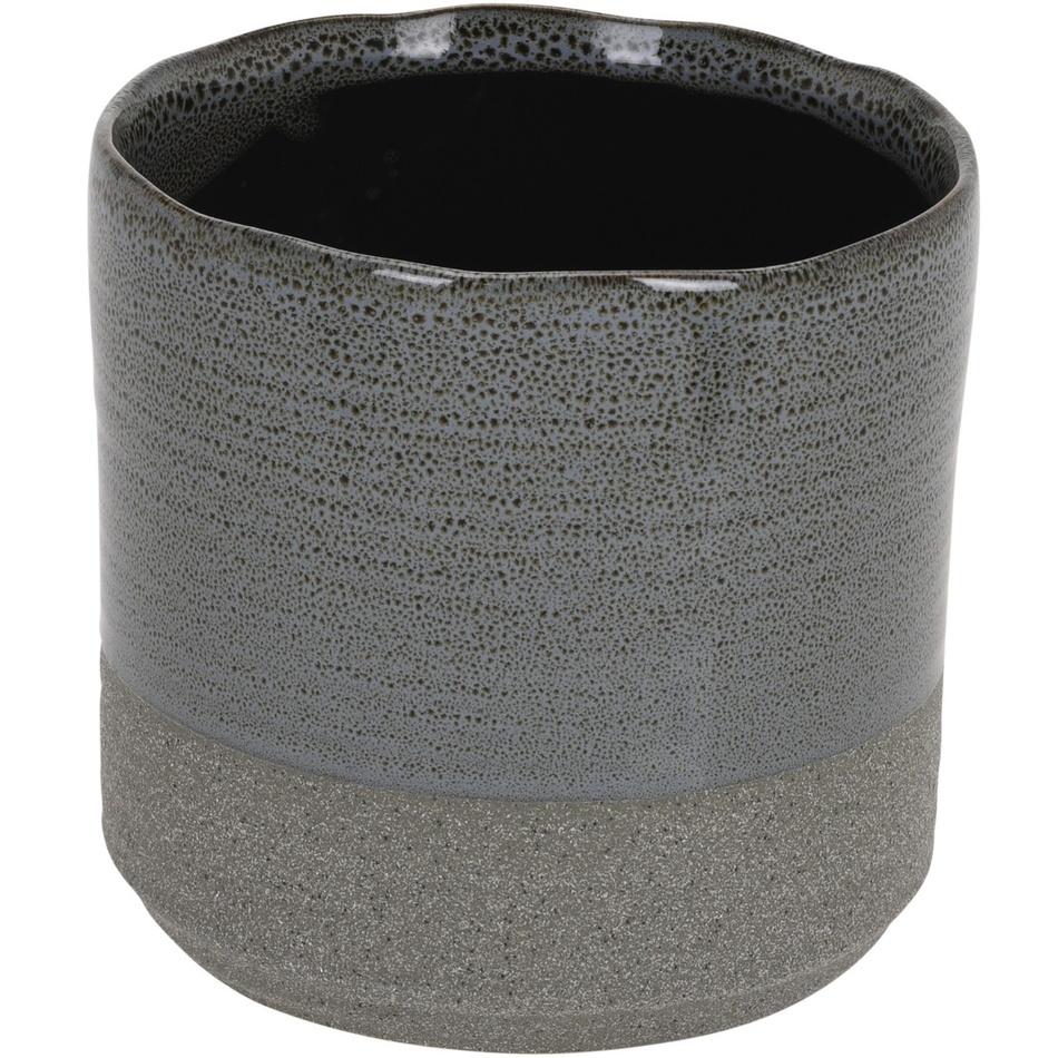 Koopman Keramický obal na květináč Volcano, tmavě  šedá