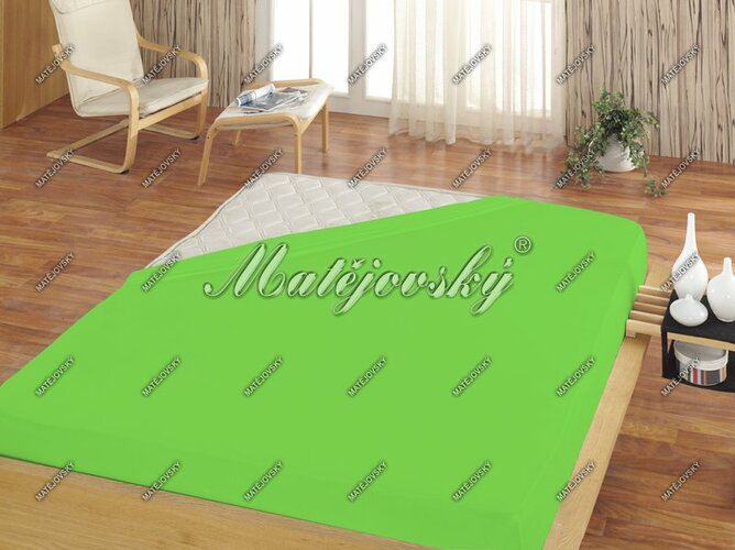 Matějovský prostěradlo froté zelená, 100 x 200 cm