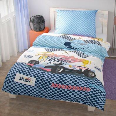 Kvalitex Bavlnené obliečky Racing, 140 x 200 cm, 70 x 90 cm