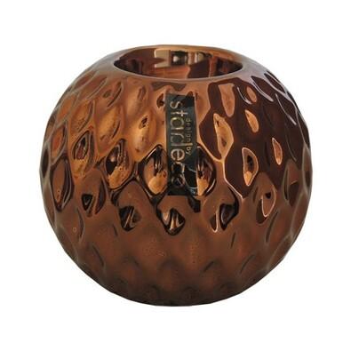 StarDeco Kulatý svícen bronzová, 10 cm