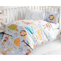Dziecięca pościel bawełniana do łóżeczka ZOO, 100 x 135 cm, 40 x 60 cm