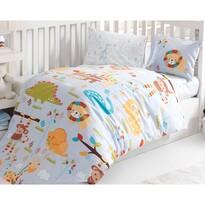 Lenjerie de pat ZOO, din bumbac, pentru copii, 100 x 135 cm, 40 x 60 cm