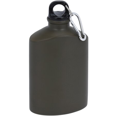 Športová hliníková fľaša s uzáverom 500 ml, army