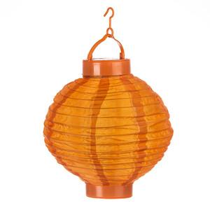 Solární LED lampión oranžová, pr. 20 cm