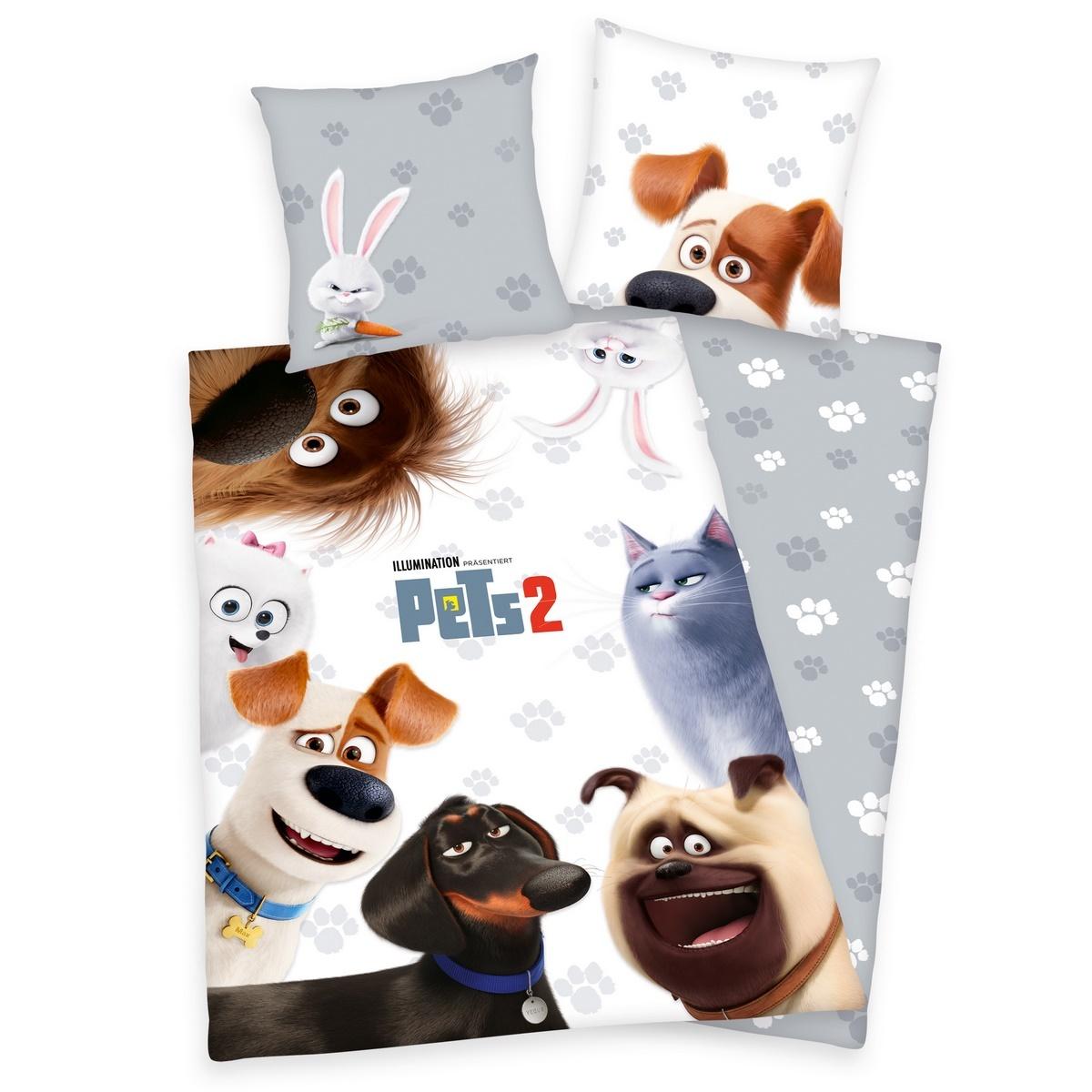 Herding Detské bavlnené obliečky Pets 2, 140 x 200 cm, 70 x 90 cm