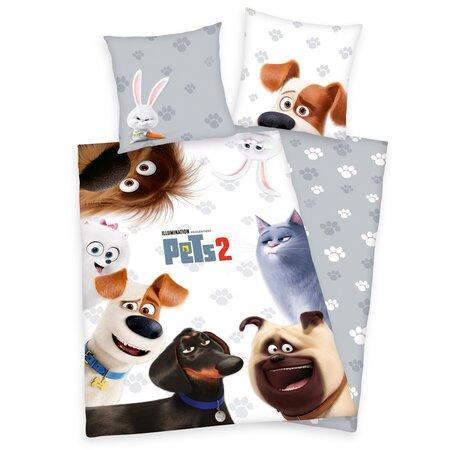 Lenjerie de pat Herding Pets 2, din bumbac, pentru copii, 140 x 200 cm, 70 x 90 cm