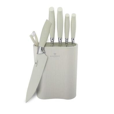 Blaumann 7-dielna sada nožov v stojane White Crocodile Line