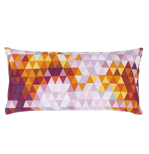Wendre Dekorativní polštář Triangl růžová, 30 x 60 cm