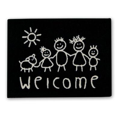 Venkovní rohožka Welcome kids, 50 x 70 cm