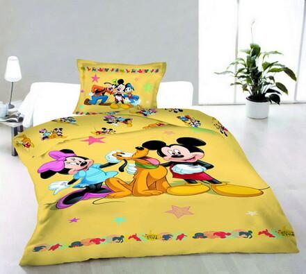 Dětské bavlněné povlečení Mickey a přátelé, 140 x 200 cm, 70 x 90 cm