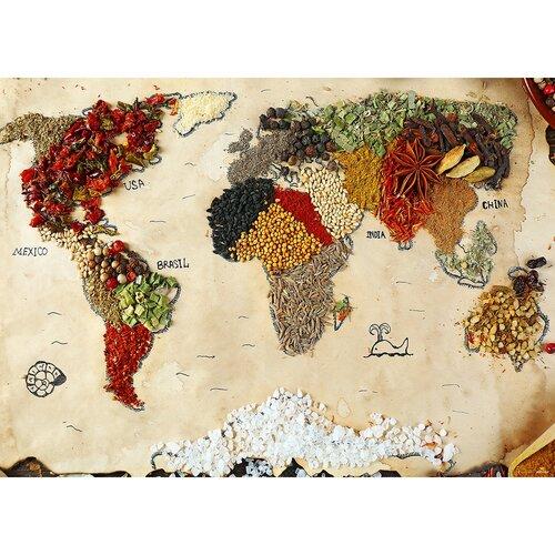 Fototapeta XXL Mapa przypraw 360 x 270 cm, 4 części