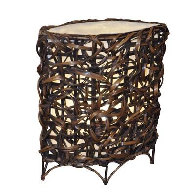 Stolní lampa bambusová oválná