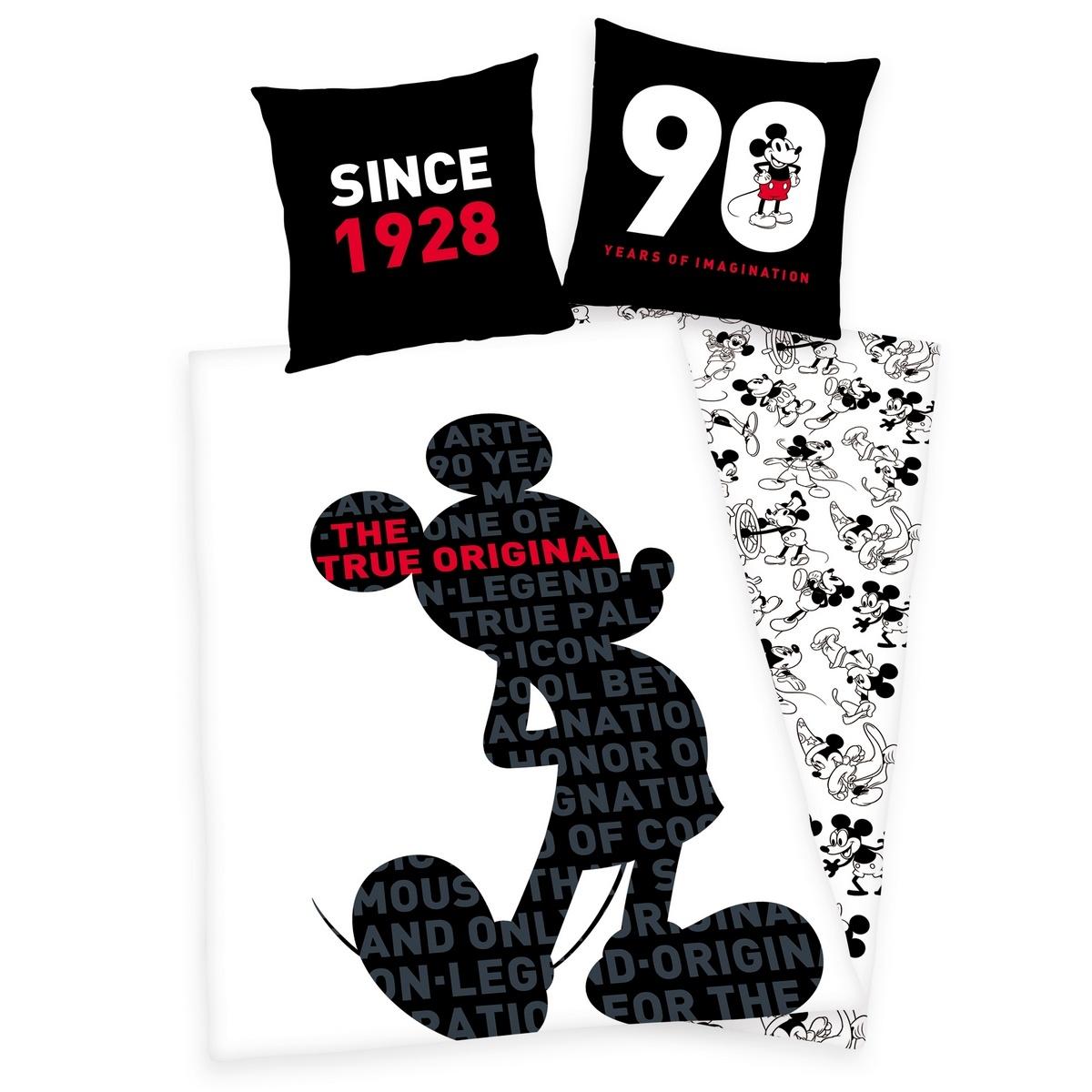 Herding Detské bavlnené obliečky Mickey 90 years, 140 x 200 cm, 70 x 90 cm