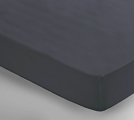 Saténové prostěradlo Uni šedá, 150 x 240 cm