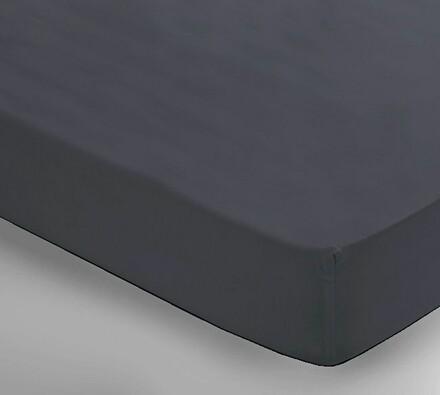 Saténové prostěradlo Uni šedá, 2 ks 150 x 240 cm