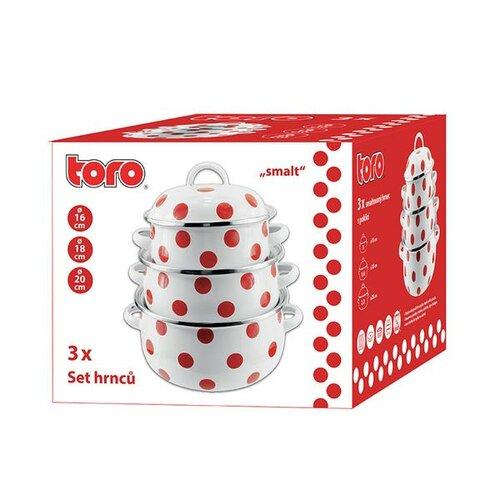 Set căni emailate Toro, cu buline, 6 piese