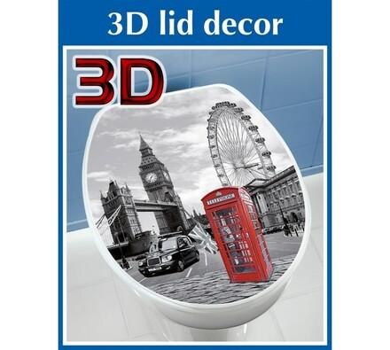 Wenko samolepky na WC Londýn 3D
