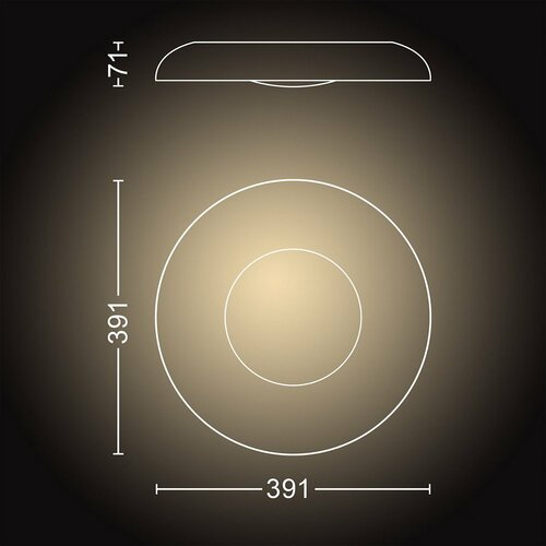 Philips Hue 32613/30/P6 stropné LED svietidlo Still 32 W, čierna