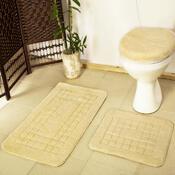 Sada koupelnových předložek Pearl krémová, 80 x 50 cm, 50 x 40 cm