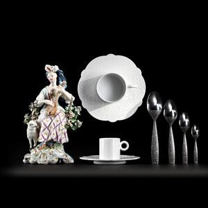 Čajový podšálek Dressed 18,5 cm, bílý