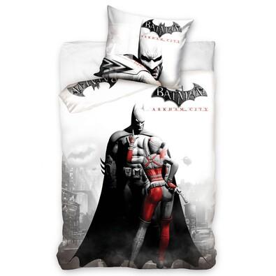 Dětské bavlněné povlečení Batman - Arkham City, 140 x 200 cm, 70 x 80 cm