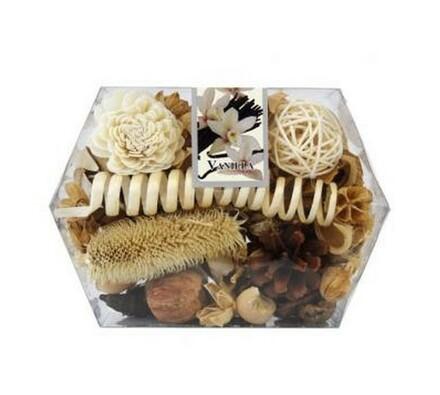 Sušená dekorace krabička přírodní