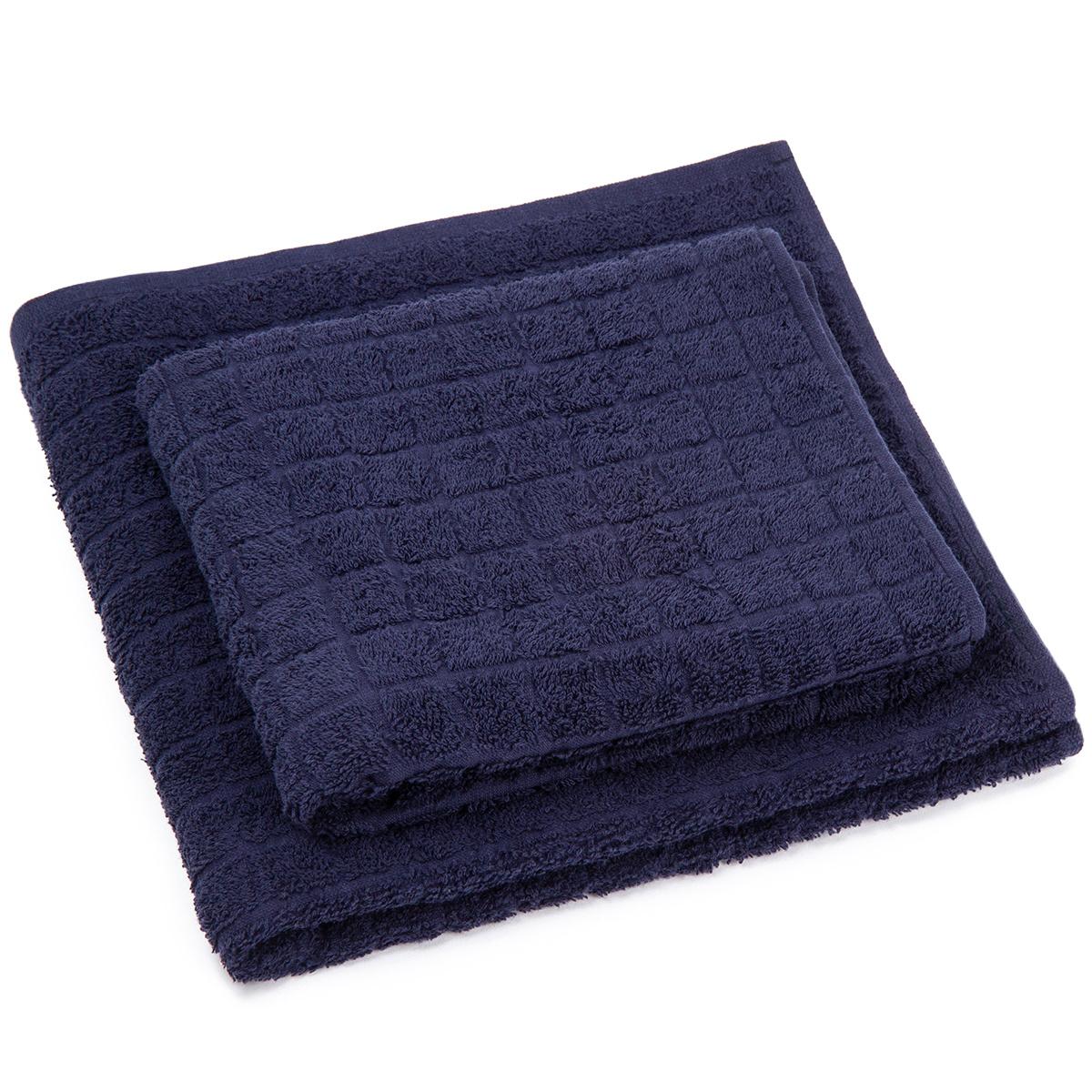 Profod Sada ručníku a osušky Jerry tmavě modrá, 50 x 100 cm, 70 x 140 cm