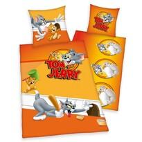 Herding Dziecięca pościel bawełniana Tom i Jerry, 135 x 200 cm, 80 x 80 cm