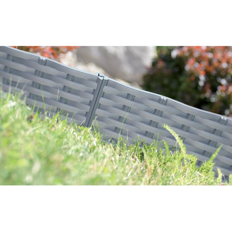 Produktové foto Prosperplast Travní lem Rattan hnědá, 390 cm