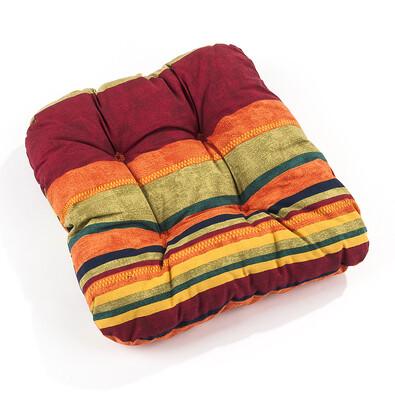 Podsedáky na židle Mariana, červená, 35 x 35 cm, sada 2 ks