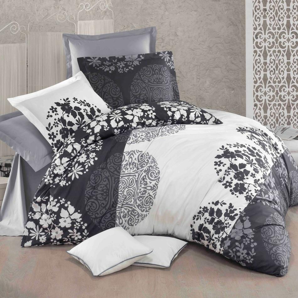 Kvalitex Bavlnené obliečky Delux Grey fields, 220 x 200 cm, 2 ks 70 x 90 cm