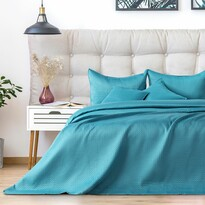 AmeliaHome Narzuta na łóżko Carmen turquoise, 220 x 240 cm