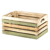 Sada dřevěných přepravek, 2 ks, zelená