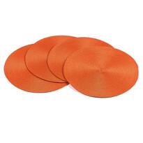 Podkładki na stół Deco okrągłe pomarańczowy , śr. 35 cm, 4 szt.