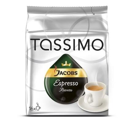 Kapsle Tassimo, Espresso Ristretto, 16ks, Jacobs
