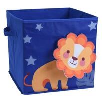 Dětský úložný box Lvíček, 32 x 32 x 30 cm