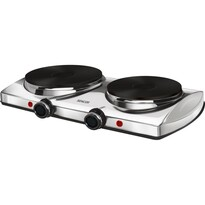 Sencor SCP 2255SS dvouplotýnkový vařič, stříbrná
